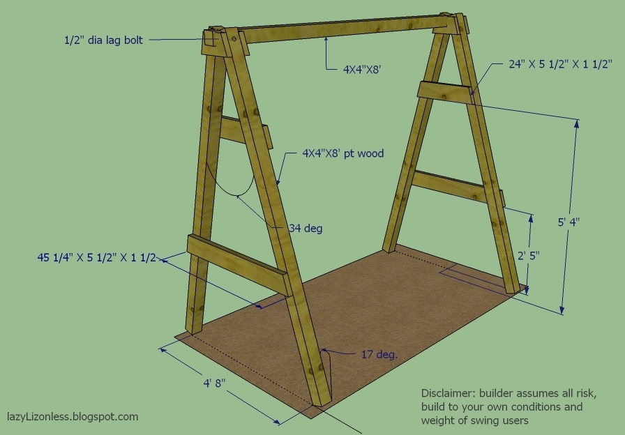 How To Build A Frame For Swing Set