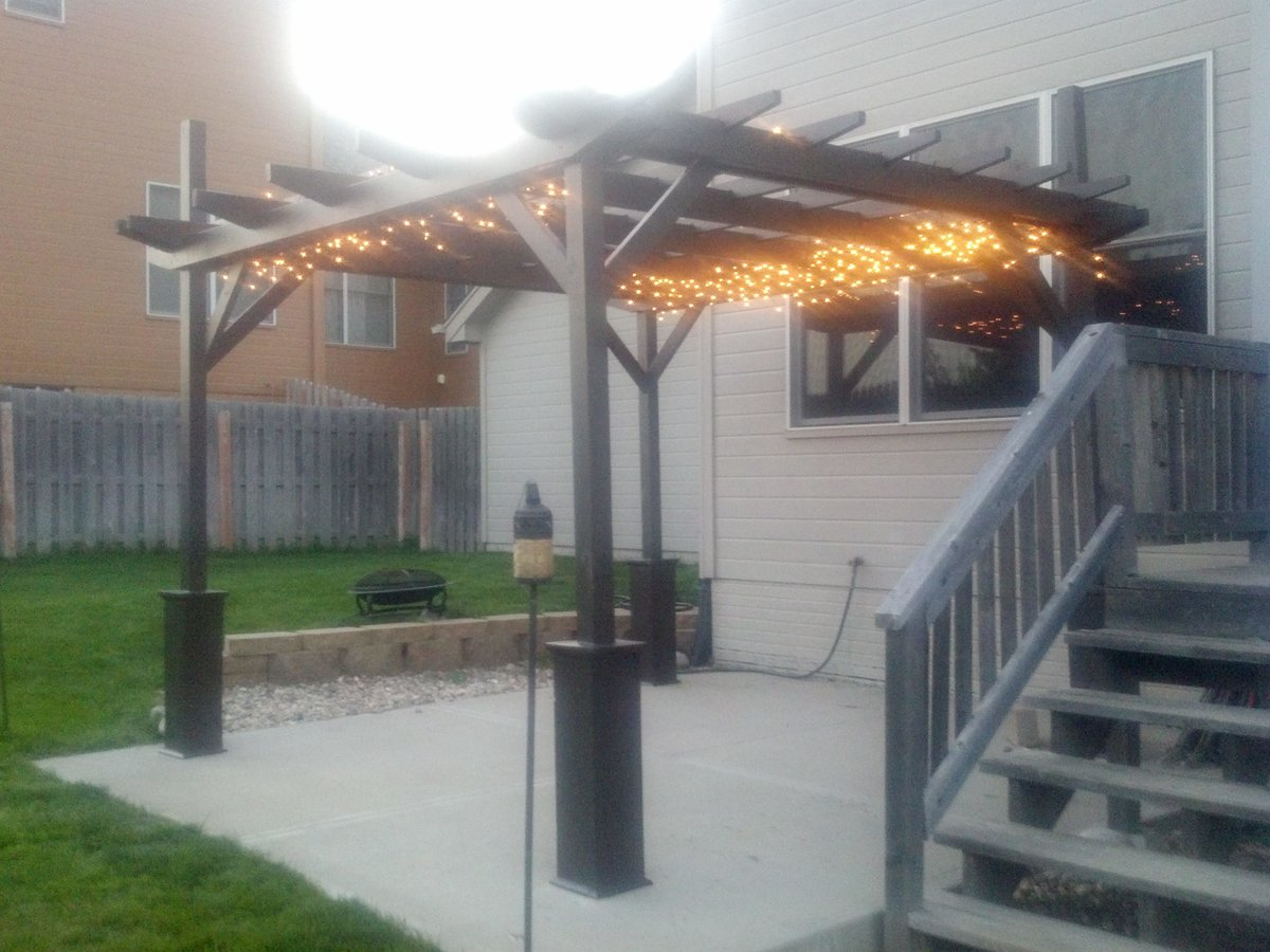 ana white pergola project diy projects. Black Bedroom Furniture Sets. Home Design Ideas