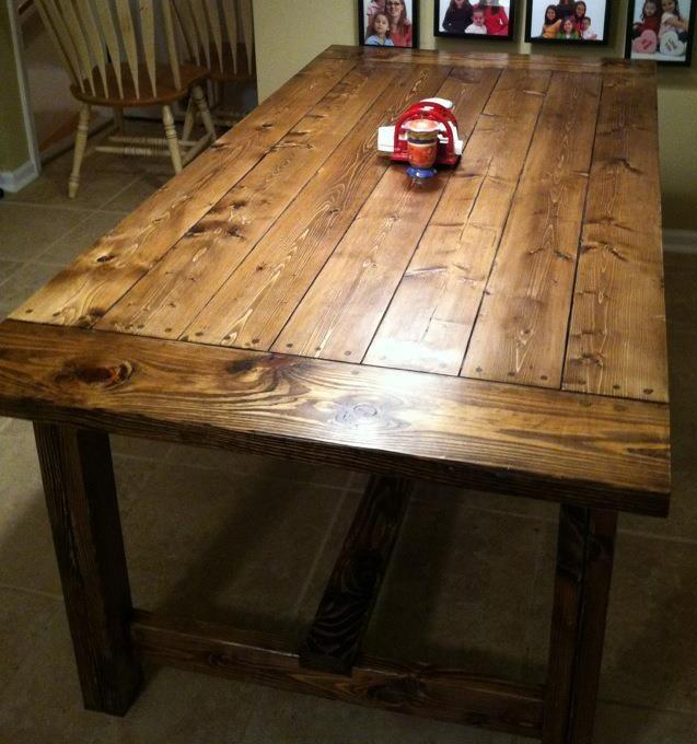DIY Farmhouse Table $90