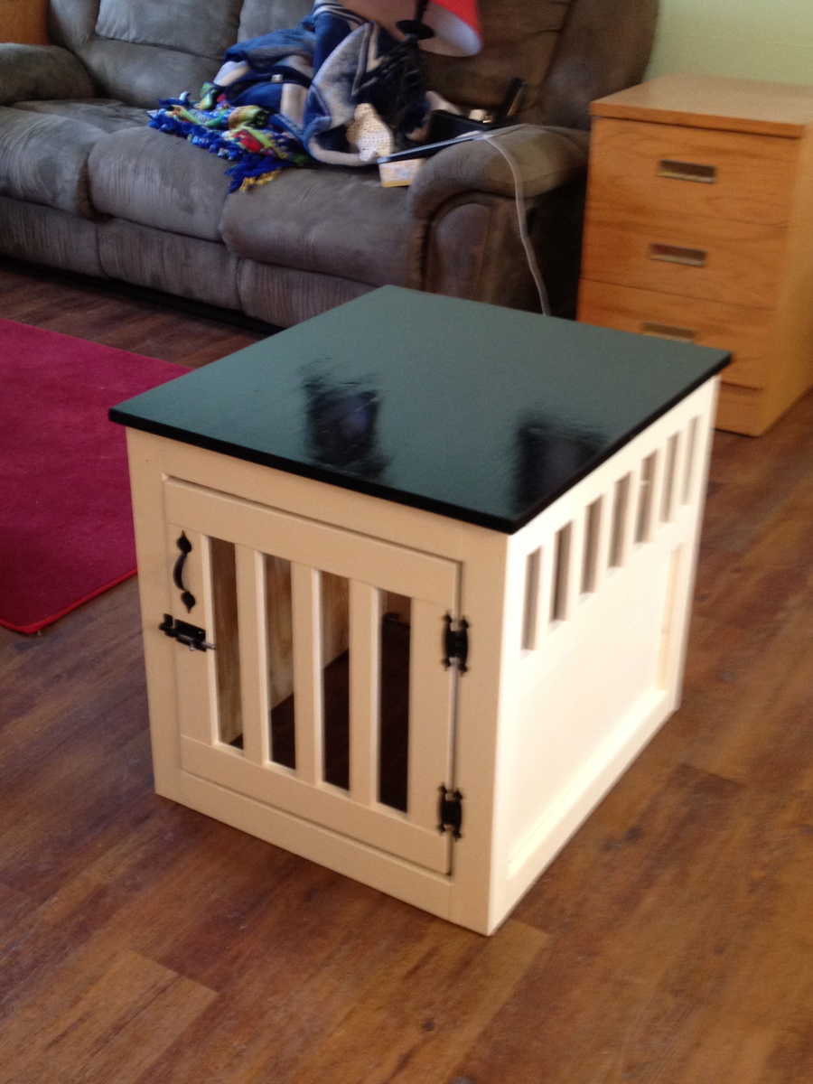 DIY Dog Kennel End Table
