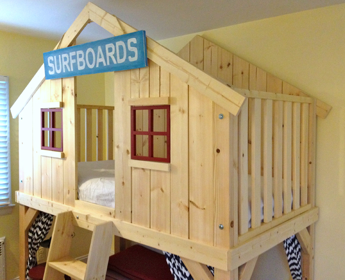 DIY Clubhouse Bed Plans