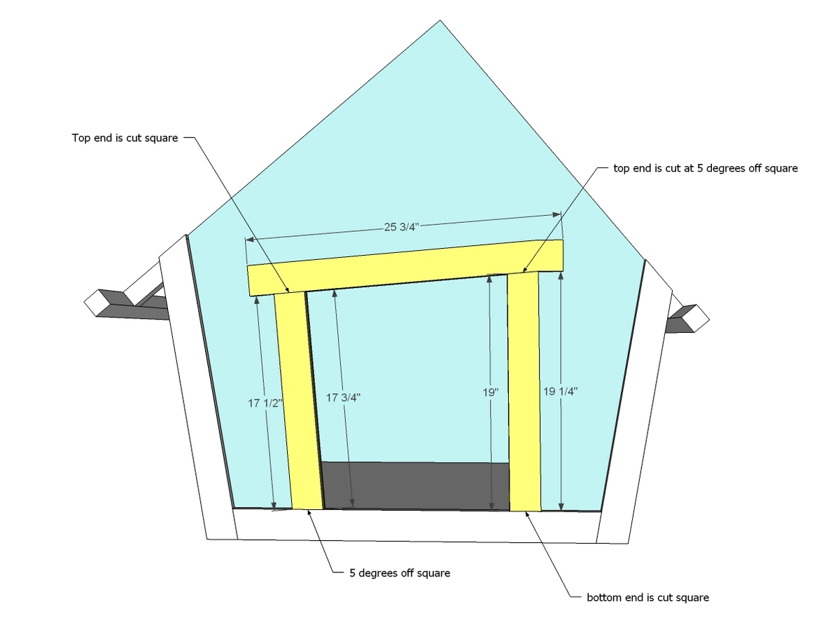 Ana white crooked doghouse diy projects for Whimsical playhouse blueprints