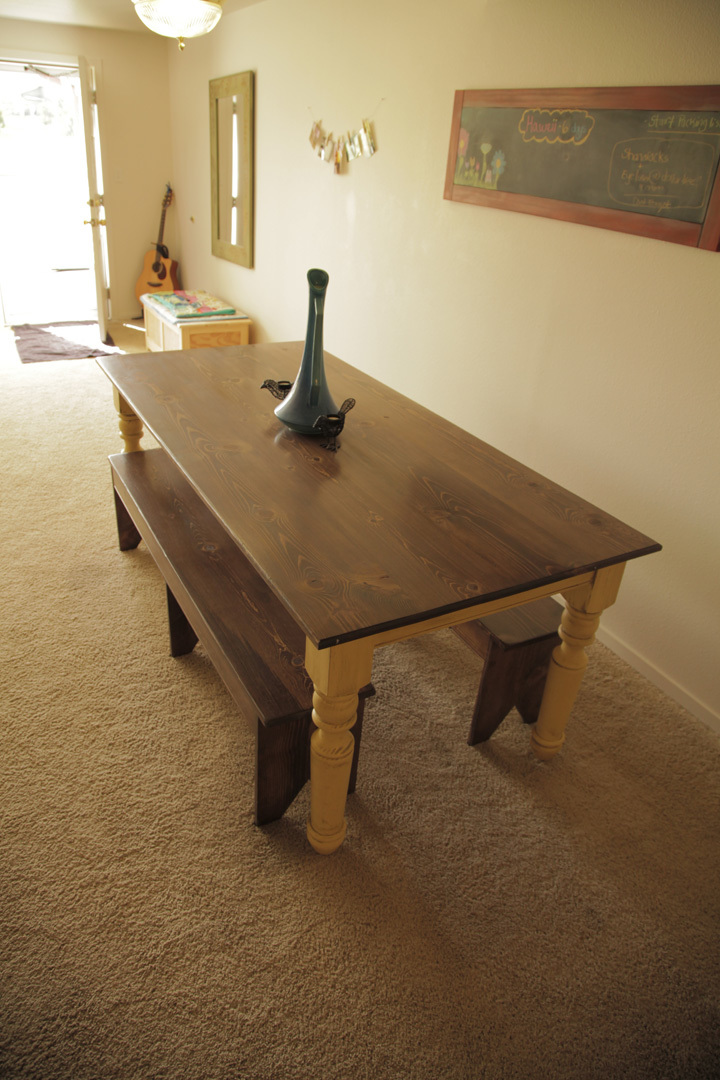 Ana white turned leg farmhouse table diy projects for 10 foot farmhouse table plans