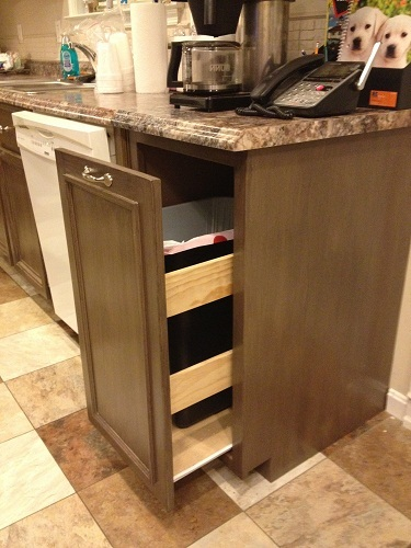 Ana White Kitchen Trash Pull Out Cabinet Diy Projects