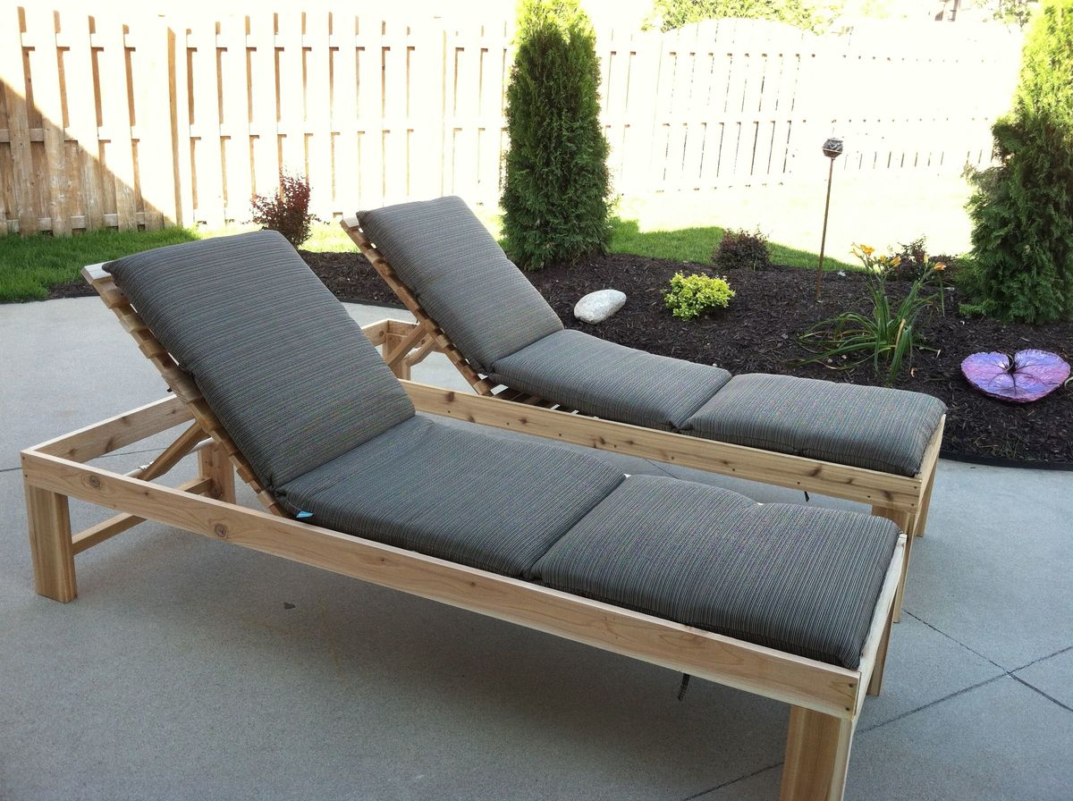 Outdoor Chaise Lounge - DIY Projects