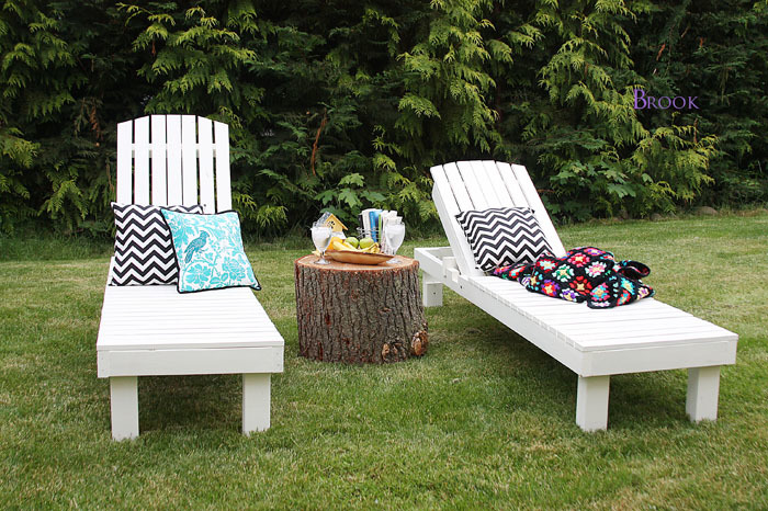 $35 Wood Chaise Lounges - DIY Projects