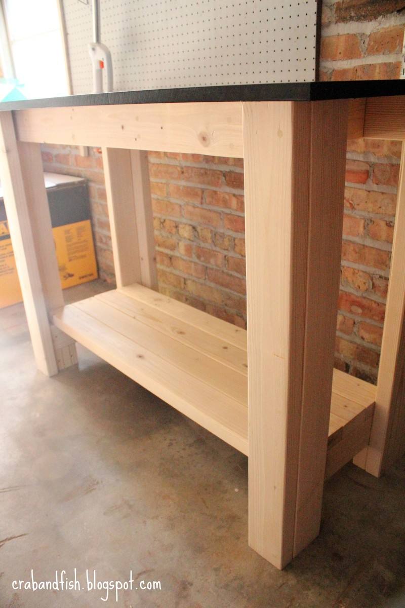 Do it yourself workbench plans here garan wood desk for Do it yourself blueprints