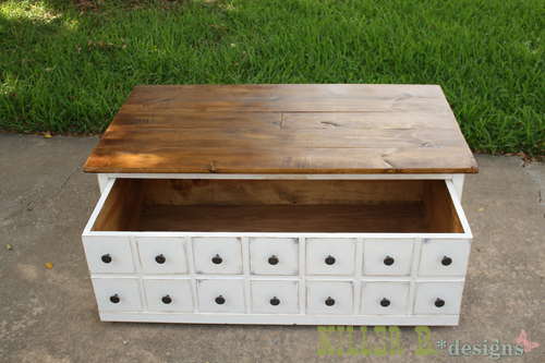 diy coffee table with storage