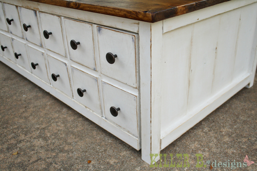 Coffee Stained Antique White Ana White