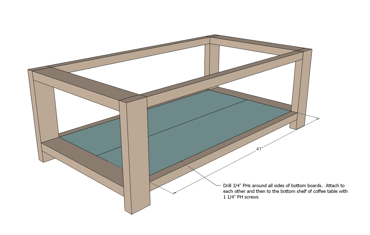 coffee table plans dimensions