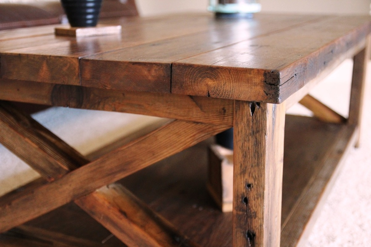 Rustic X Coffee Table Do It Yourself Home Projects From Ana White
