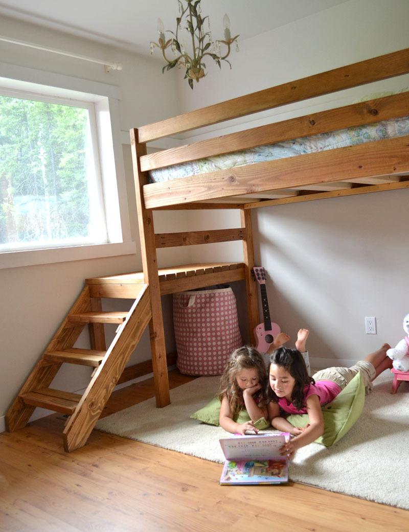 loft bed plans with stairs junior height loft bed plans free from ana ...