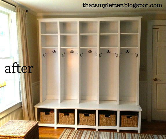 mudroom locker and bench unit | Do It Yourself Home Projects from ...