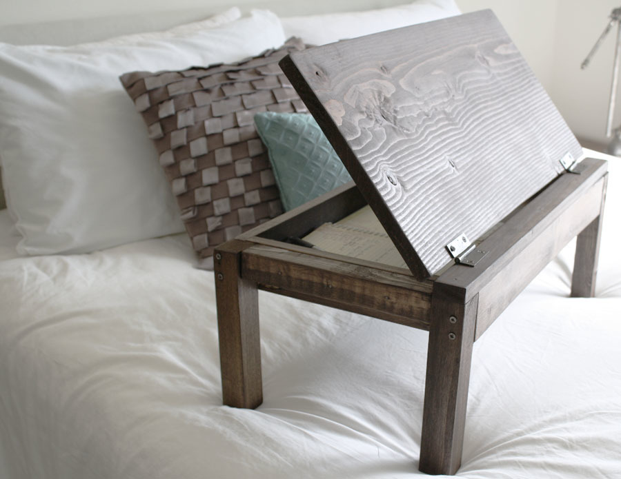 Am looking for wood project complete beginner scrap scrap wood projects boxes - Wood lap desk with storage ...