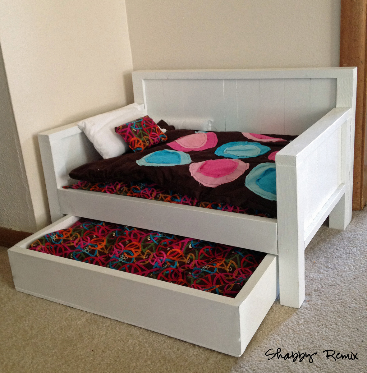 Ana White | American Girl Doll Trundle Day Bed - DIY Projects