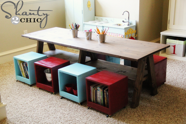 kids play table plans