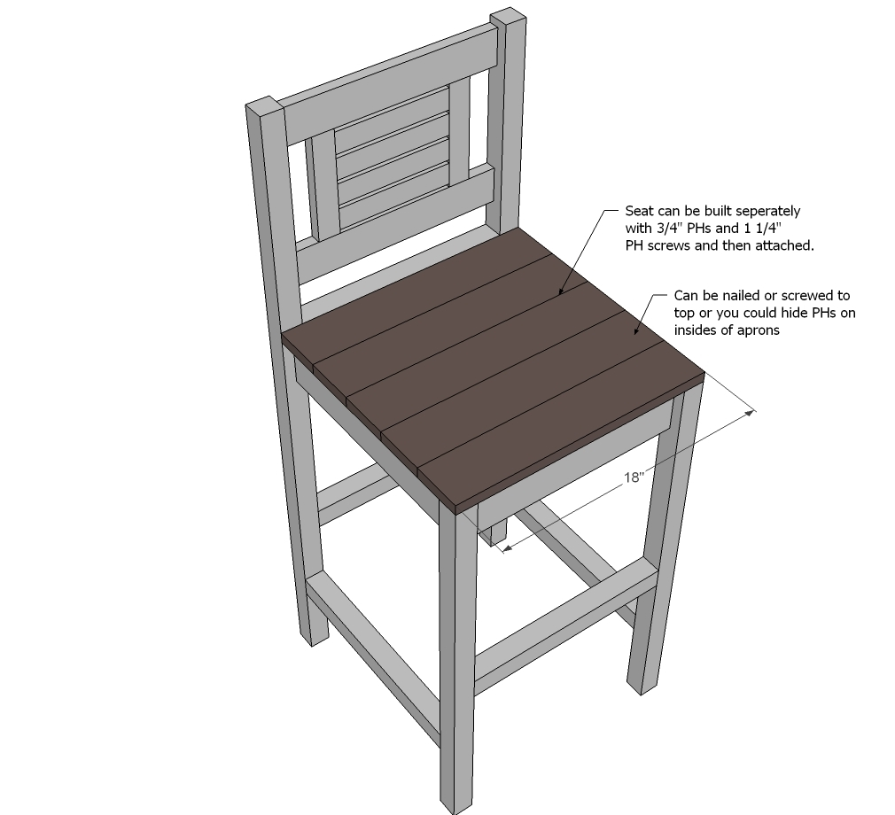 Wooden Shop Stool Plans