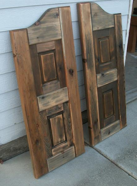 how to build saloon doors