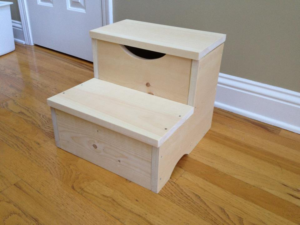 Build Step Stool Storage