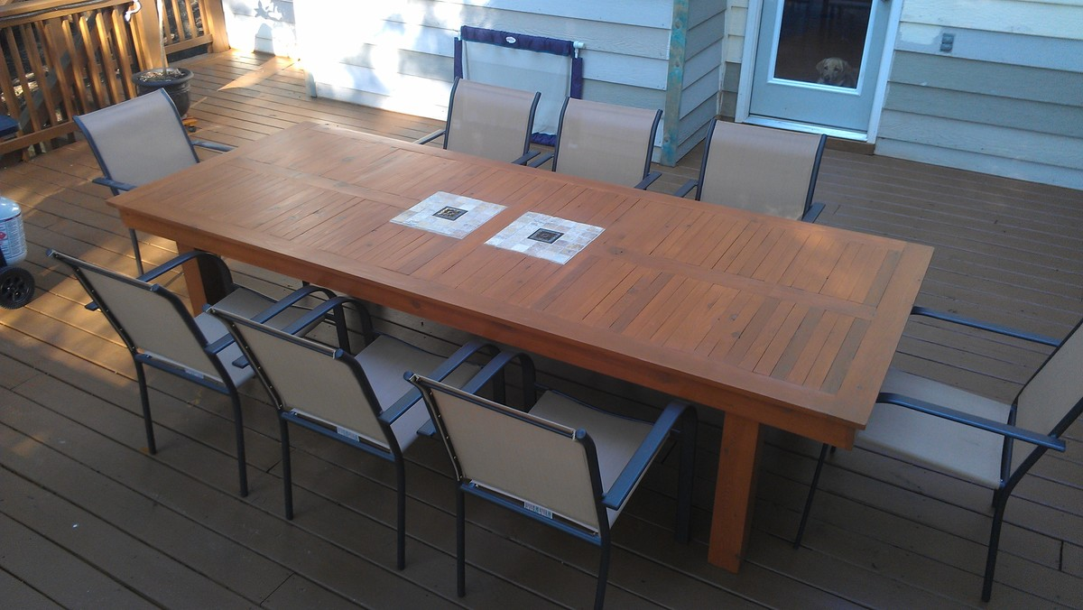 Ana White Large Modified Outdoor Cedar Table Diy Projects