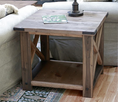 Rustic X End Table Ana White