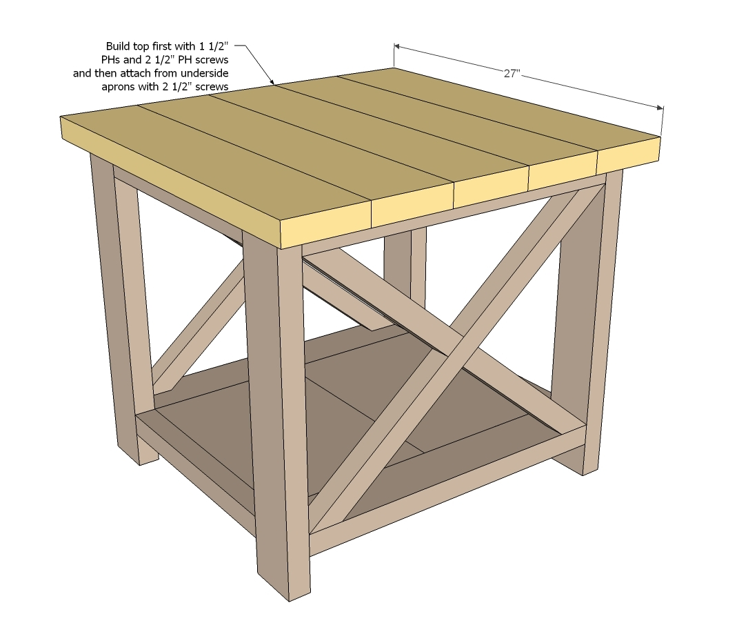 Ana White | Build a Rustic X End Table | Free and Easy DIY Project and ...