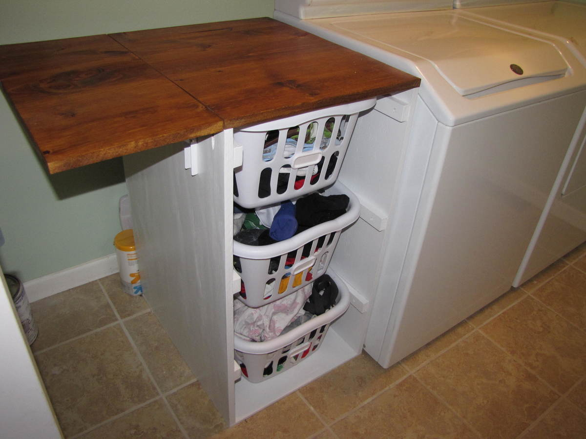 Shorter Brook laundry basket dresser with folding table | Do It ...
