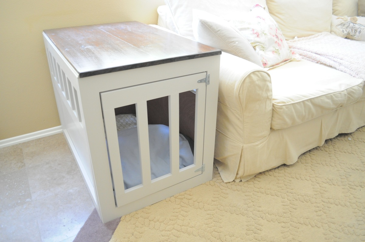 build your own dog crate end table | Quick Woodworking Projects
