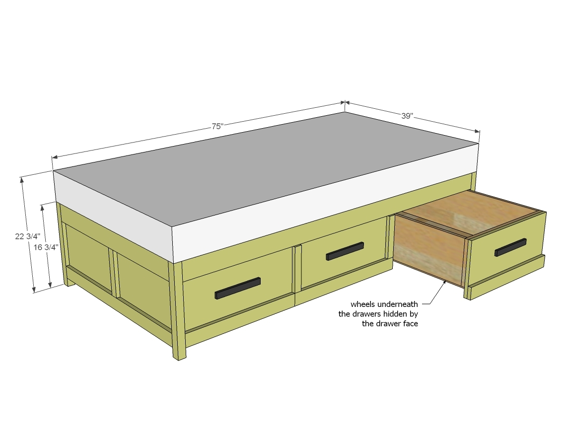 Daybed with Storage Drawers