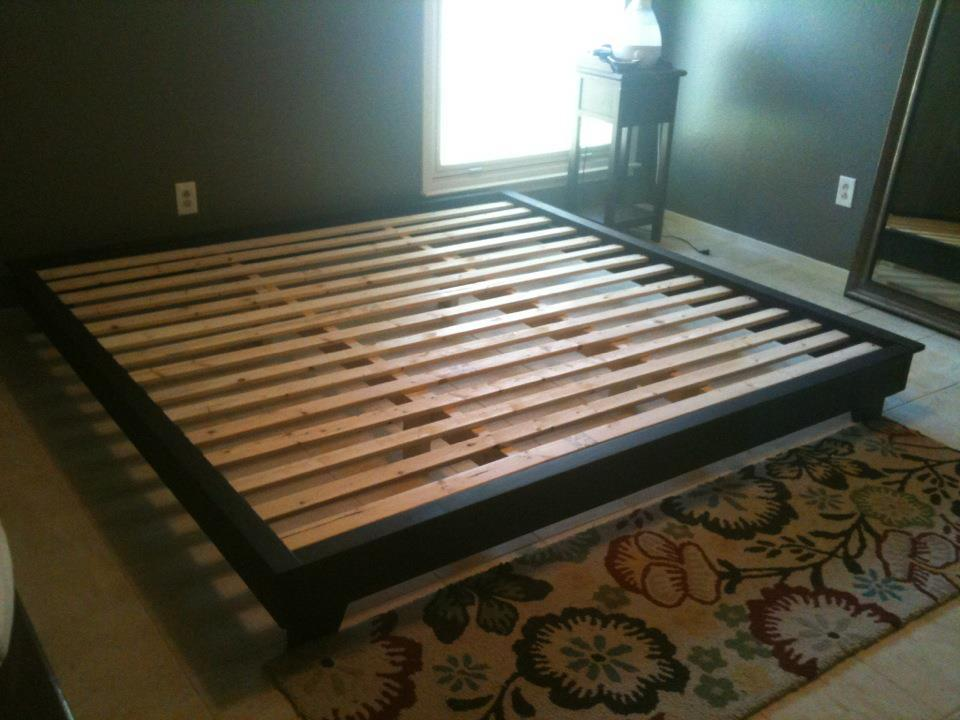 King Sized Hailey Platform Bed | Do It Yourself Home Projects from Ana ...