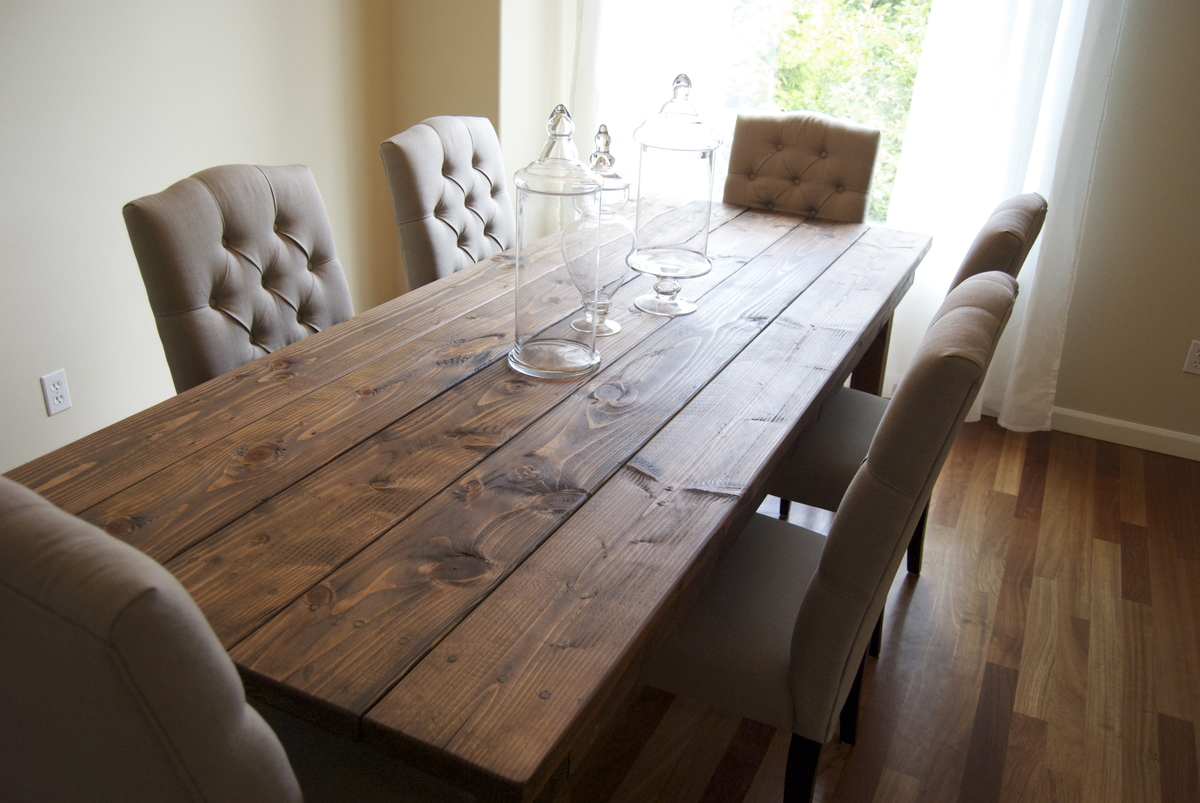 Farmhouse Table (Rustic Table) | Do It Yourself Home Projects from ...