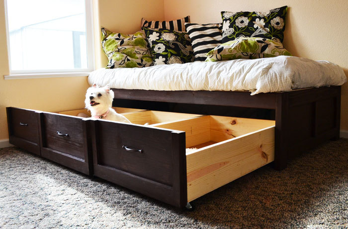 Ana white daybed with storage trundle drawers diy projects Daybeds with storage