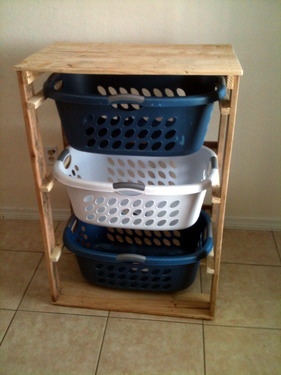 Laundry Dresser made from Pallets