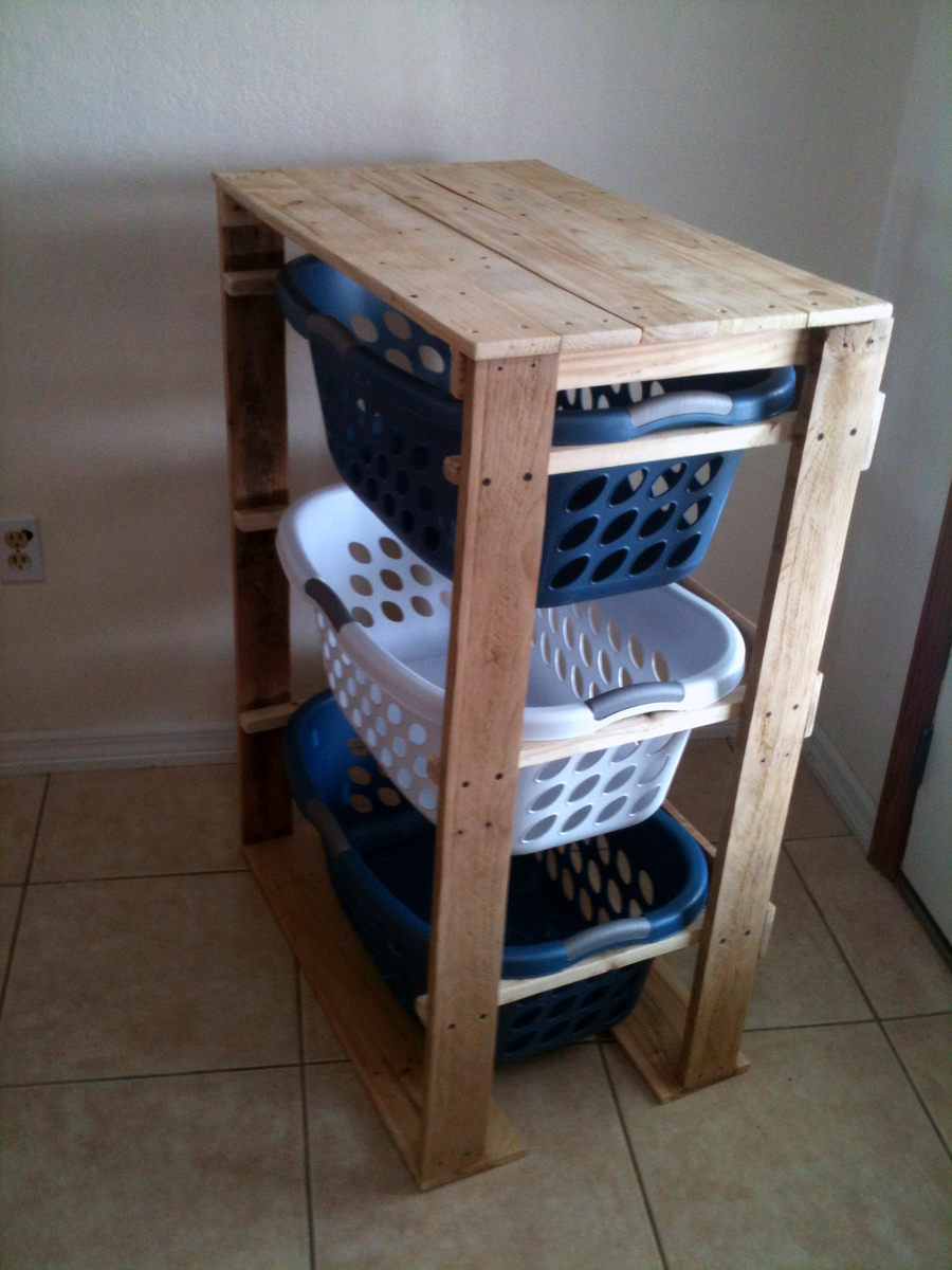 Diy furniture crate coffee table diy craft projects - Ana White Pallet Laundry Basket Dresser By Pallirondack