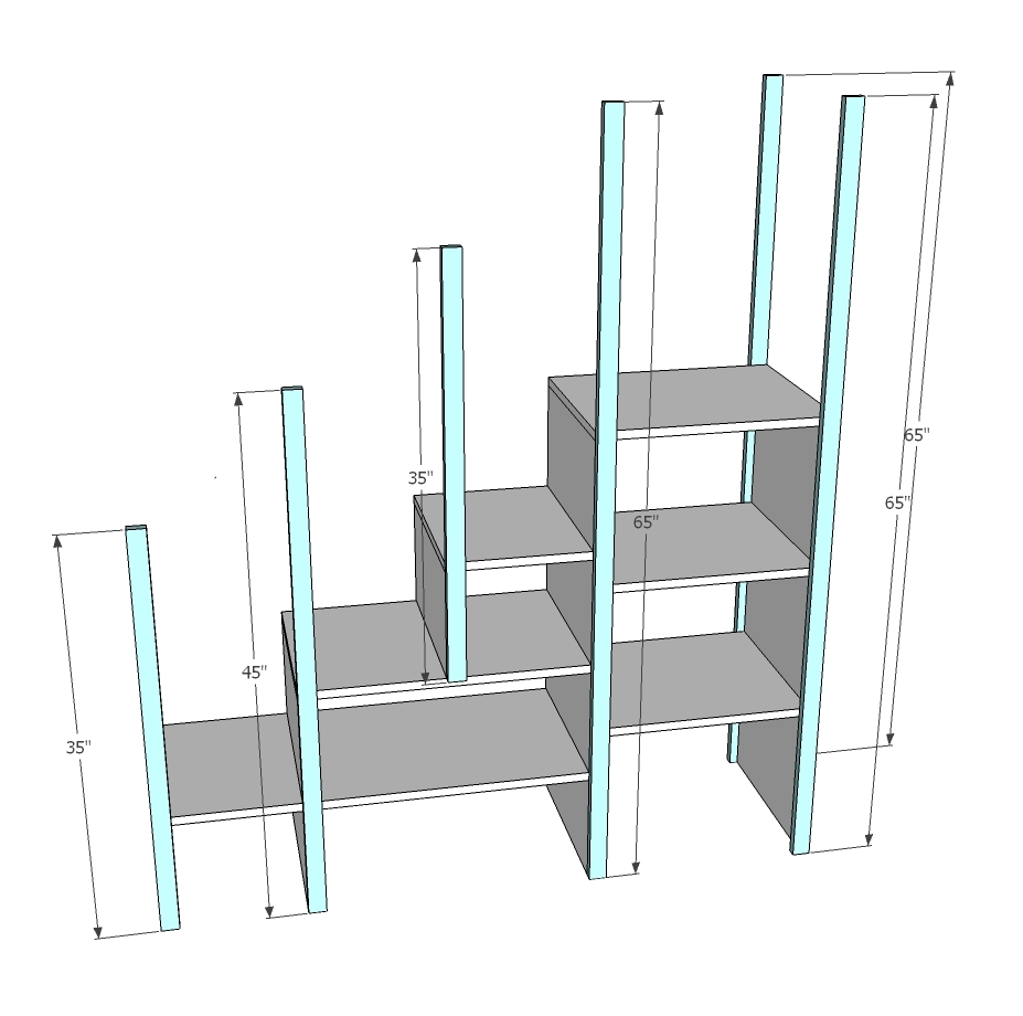 loft bed stairs plans