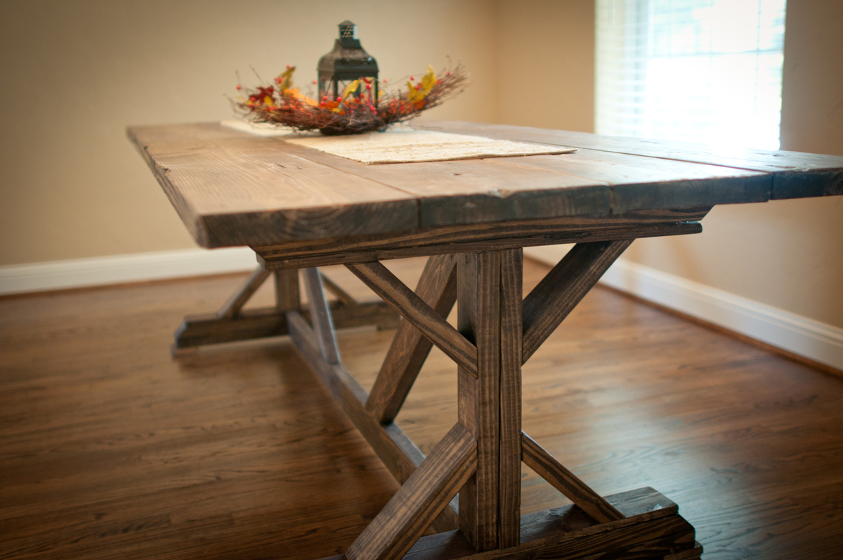 Ana white farmhouse x table diy projects for What is a farmhouse table