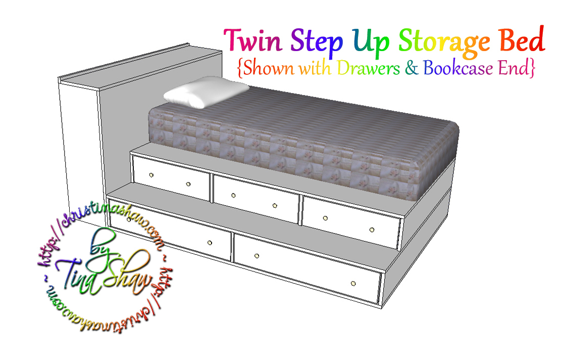 Build Twin Captains Bed With Storage All Storage Bed