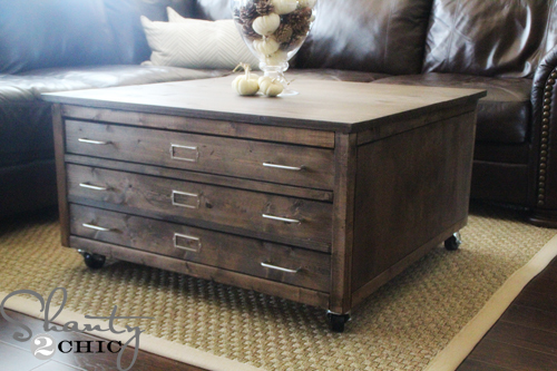 Ana White | 6 Drawer Library Coffee Table - DIY Projects
