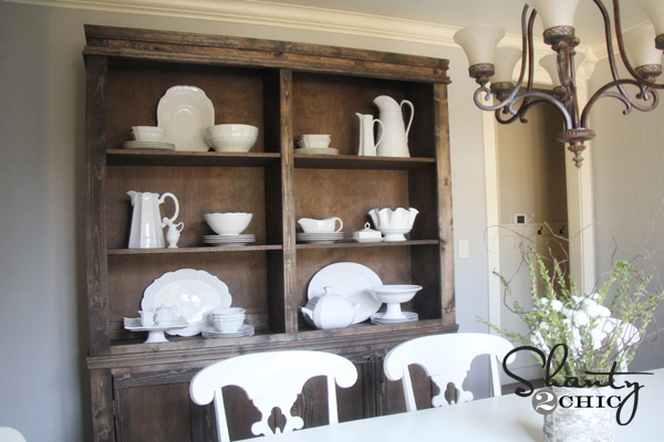 Ana white shanty hutch diy projects for Dining room hutch plans