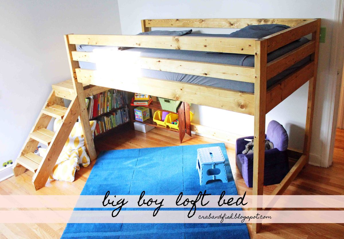 Ana White Big Boy Toddler Loft Bed Diy Projects Beds For Boys