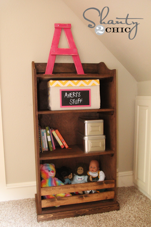 Ana white kids storage bookshelf diy projects for White bookcase for kids room