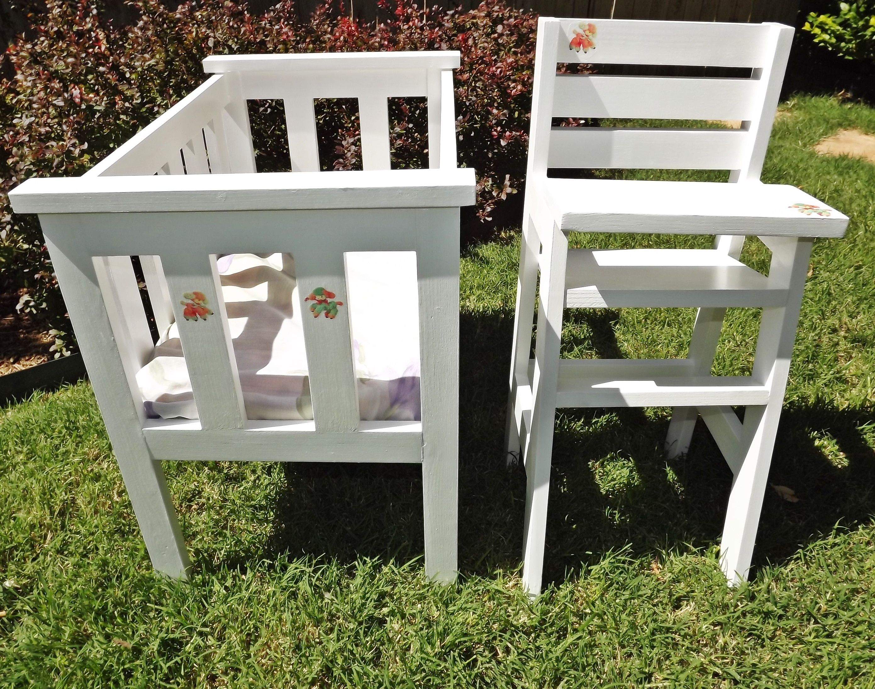 Ana White Doll Crib And High Chair Modified Diy Projects