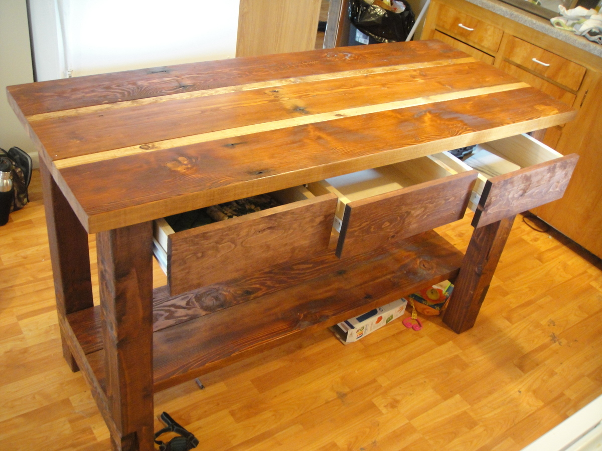 woodworking plans kitchen island ana white kitchen island from reclaimed wood diy projects 5327
