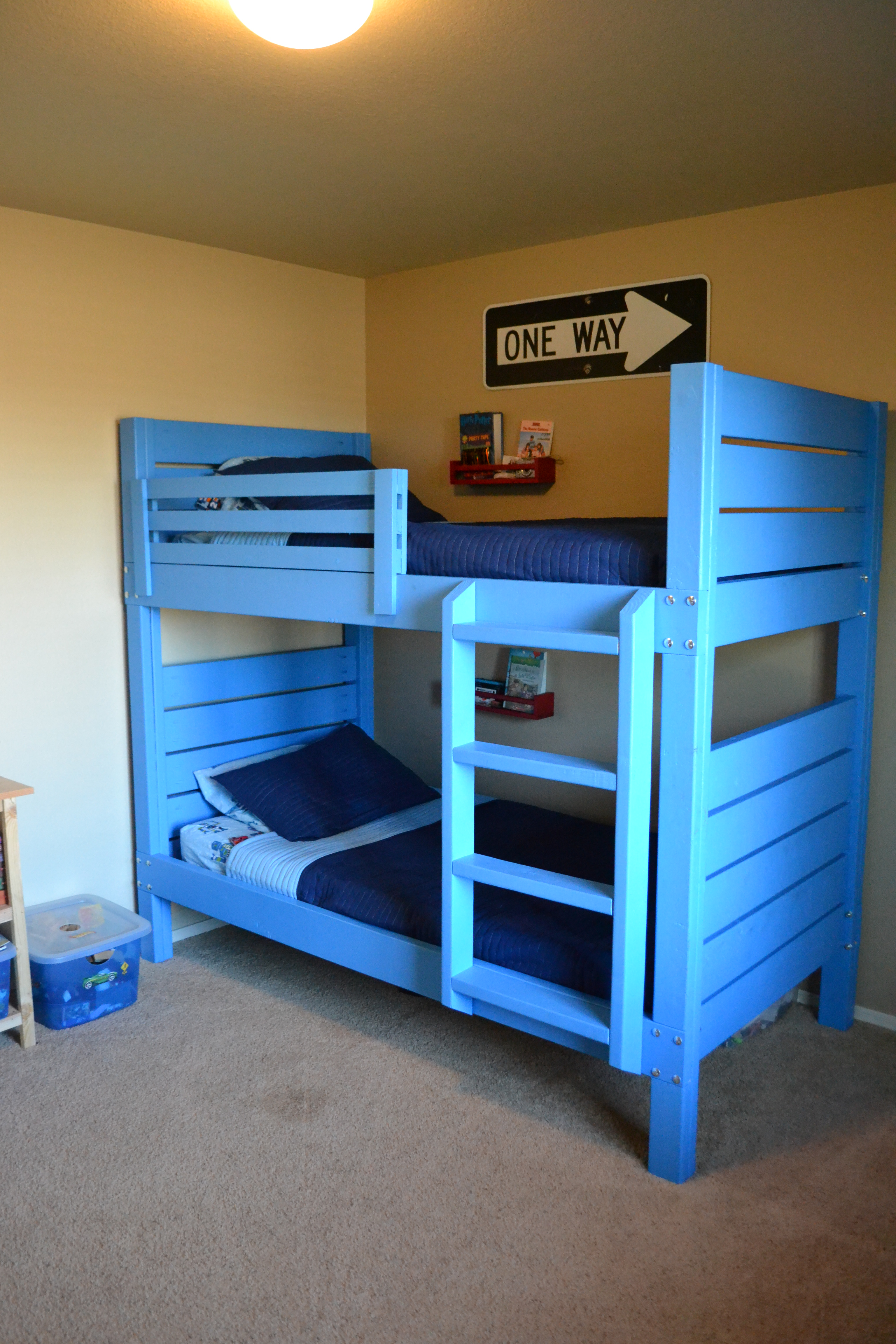 Side Street Bunk Beds With Modified Ladder Ana White