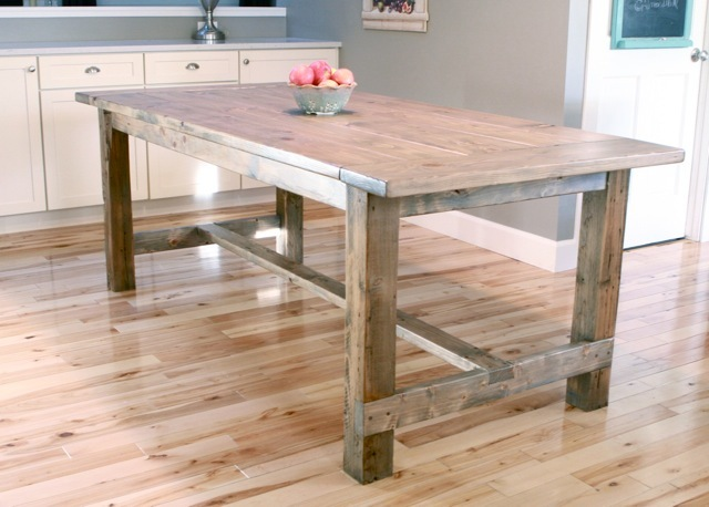 Ana White | Build a Farmhouse Table - Updated Pocket Hole Plans ...