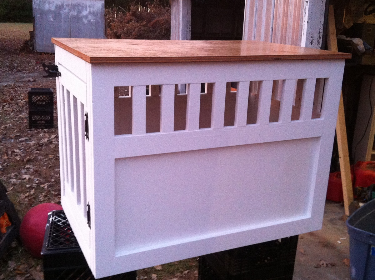 wooden dog crate furniture plans