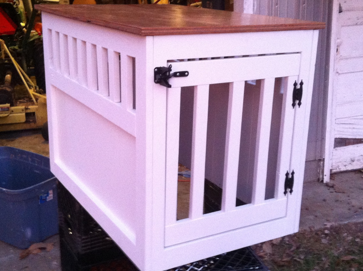 wooden dog kennel end table plans