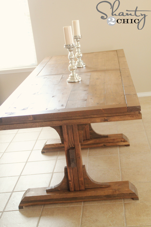 Ana White | Build a Triple Pedestal Farmhouse Table | Free and ...