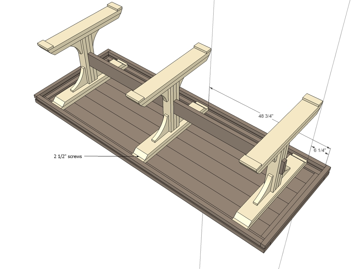 wood pedestal table base plans