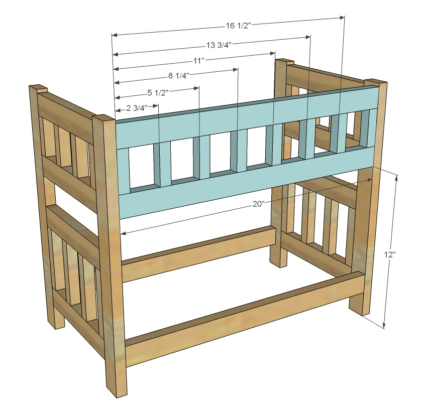 wood doll bunk bed plans